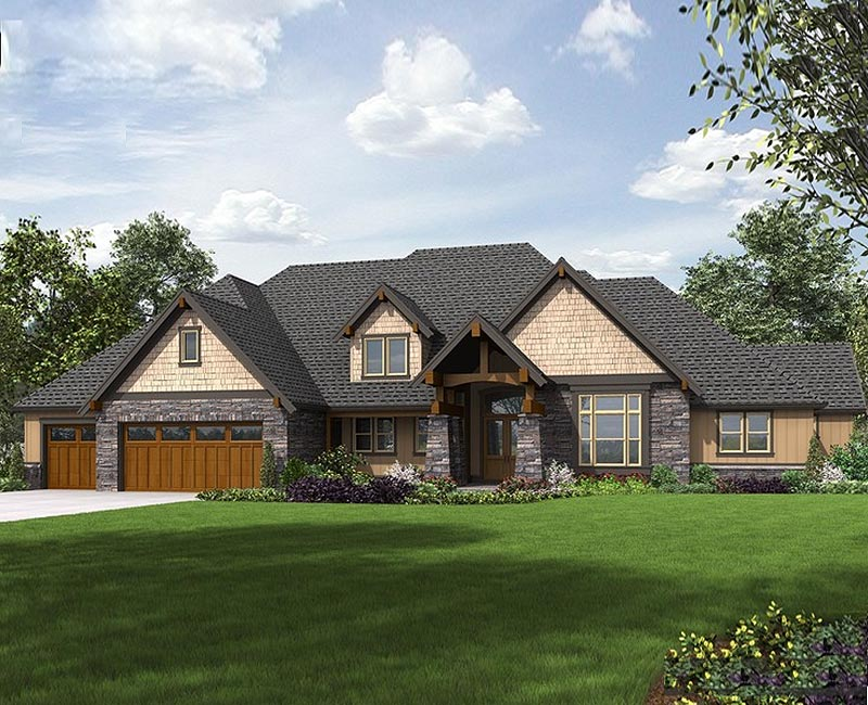 4,390 Square Foot Craftsman Country Custom Home With Great