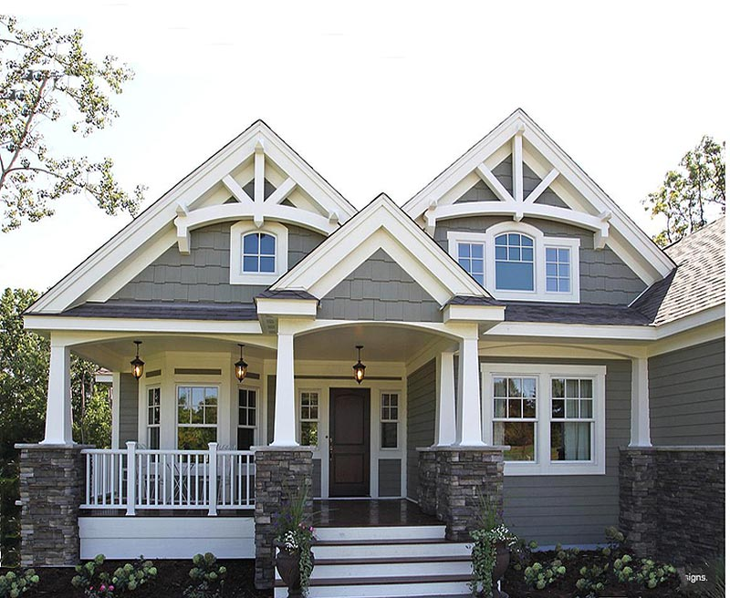 Amazing character and detail in this modest custom home of for Custom craftsman home plans