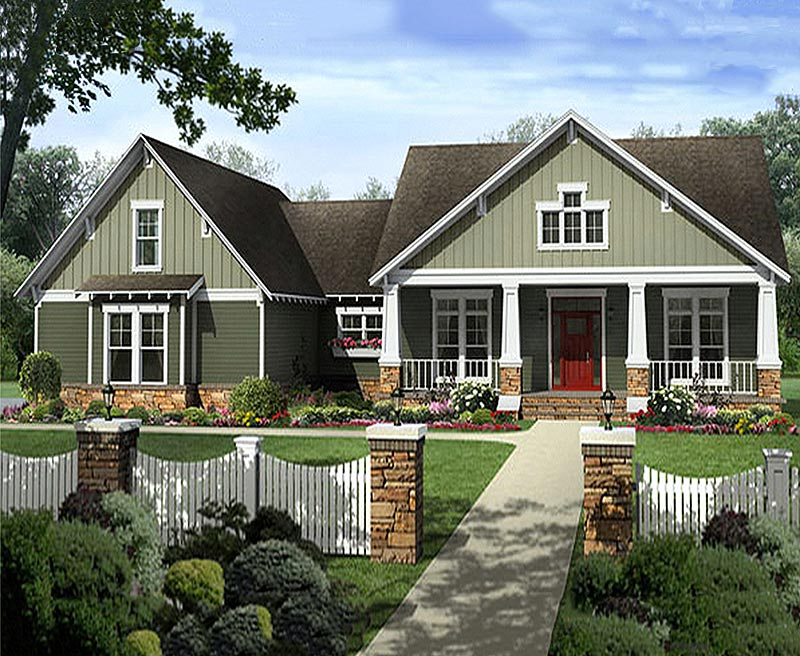 Perfectly detailed craftsman custom home with 2 797 square for Southern craftsman home plans
