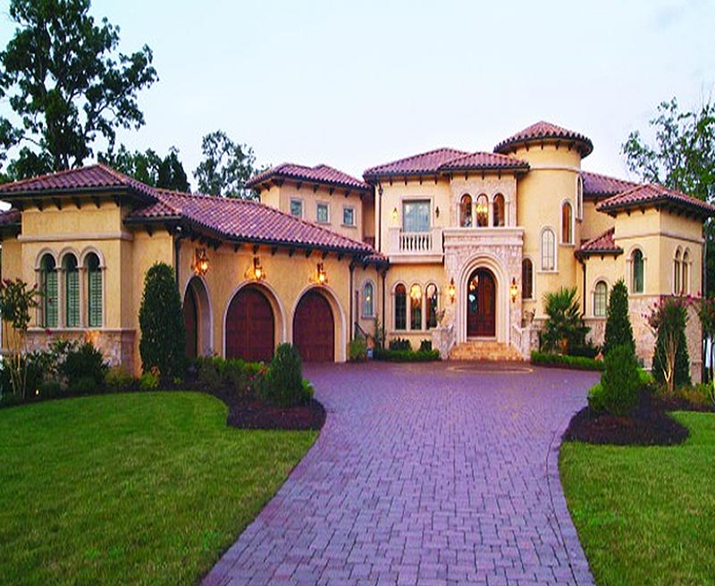 Stunning tuscanny inspired custom home was designed to for Southern custom homes