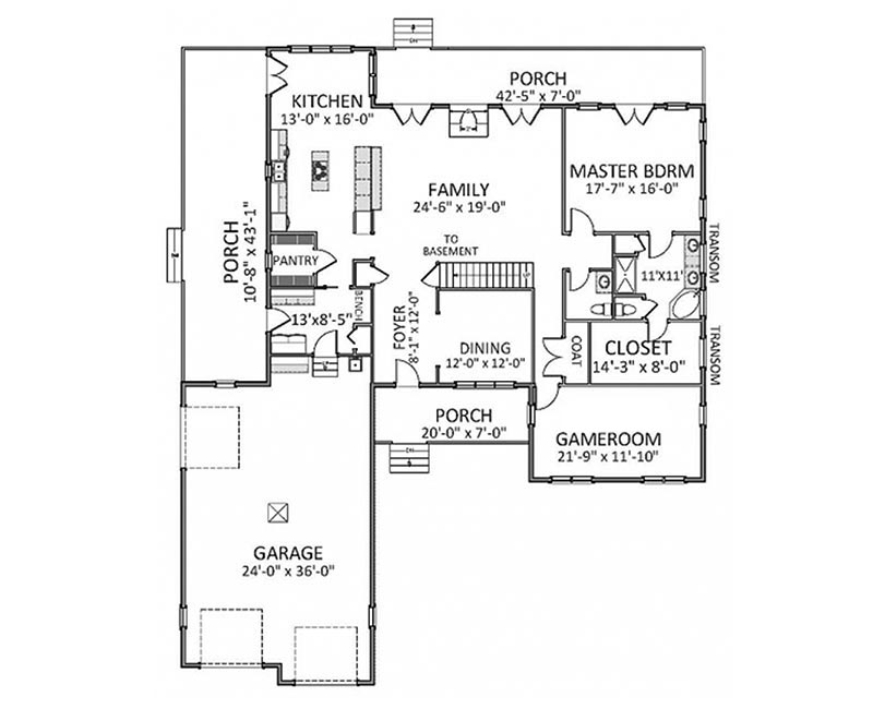 Traditionally styled country custom farmhouse home with for Traditional southern house plans