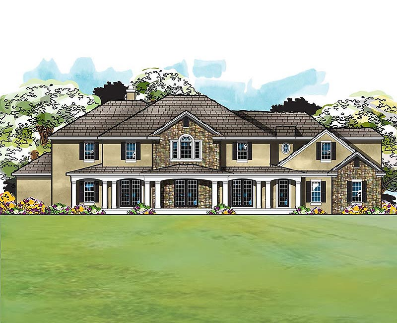 True country custom home estate with amazing exterior for Traditional southern house plans