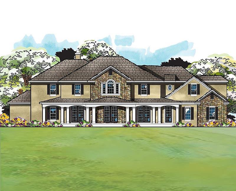 True country custom home estate with amazing exterior for Custom estate home plans