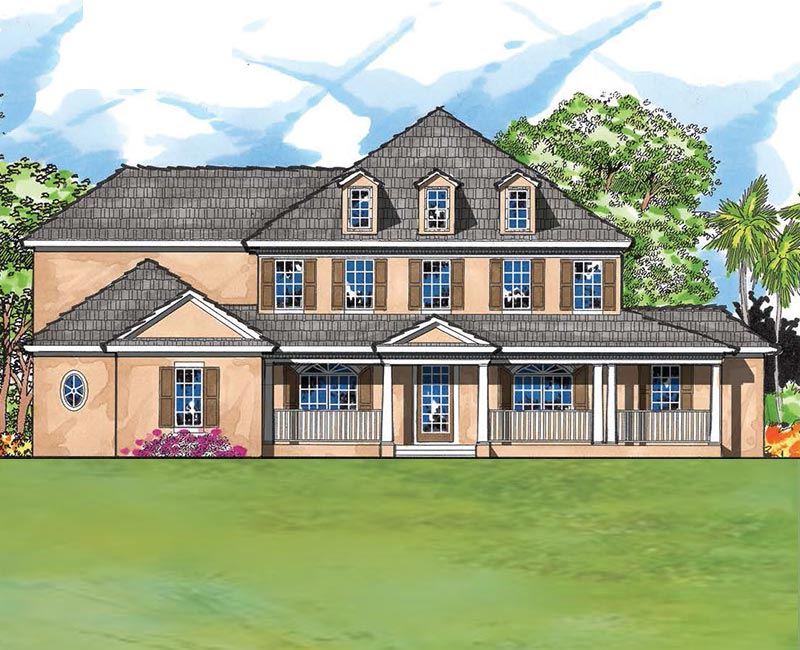 Large French Country Custom Home With 5 Bedrooms And 4 5 Baths