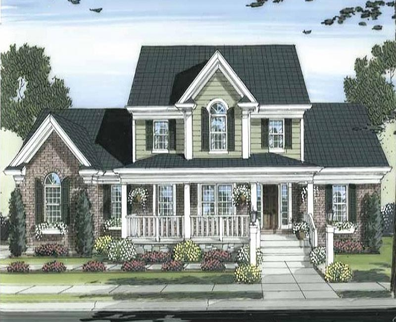 Traditionally styled country custom home with 2 353 square Custom home plans