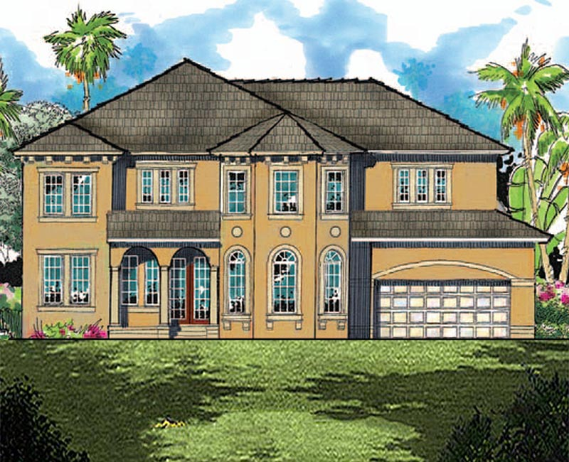 Tuscan inspired 2 story custom home with 3 586 square feet for Southern custom homes